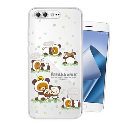 日本授權拉拉熊 ASUS ZenFone 4 Pro ZS551KL 變裝手機殼(熊貓白)