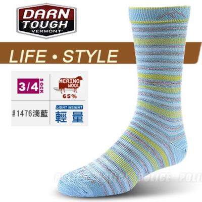 【DARN TOUGH 】女 VERMONT 美麗諾羊毛襪(2入)_淺藍