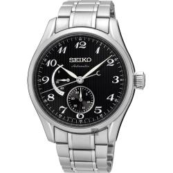 SEIKO精工 Presage 動力儲存機械腕錶(SPB043J1)-黑/40mm
