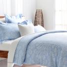 Cozy inn 湛青-淺藍 300織精梳棉四件式兩用被床包組(雙人)