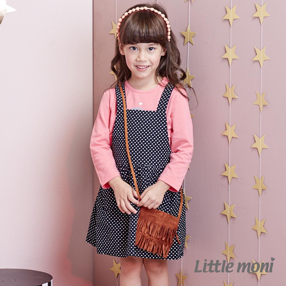 Little moni 甜心女孩點點吊帶裙 (共2色) product image 1