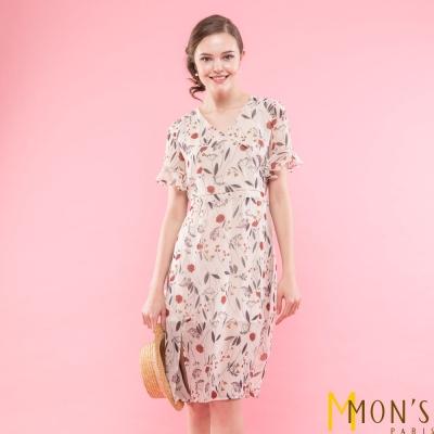 MONS 設計師款優雅花卉時尚洋裝