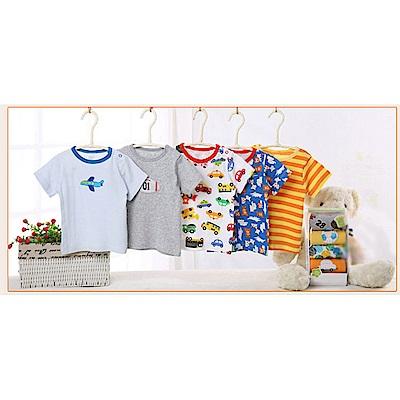 baby童衣 寶寶純棉短袖上衣 不挑款5件組 y7030
