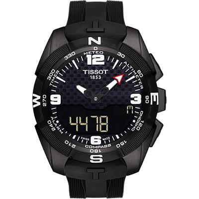 TISSOT T-TOUCH鈦 太陽能觸控錶(T0914204705701)-黑/45mm
