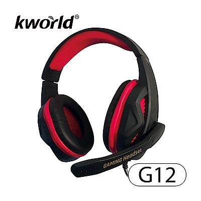 廣寰頭戴電競耳麥 G12《黑紅》