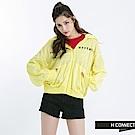 H:CONNECT 韓國品牌 女裝 -簡約印字連帽外套-黃