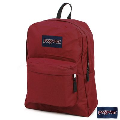 JanSport 校園背包(SUPER BREAK)-聖誕紅