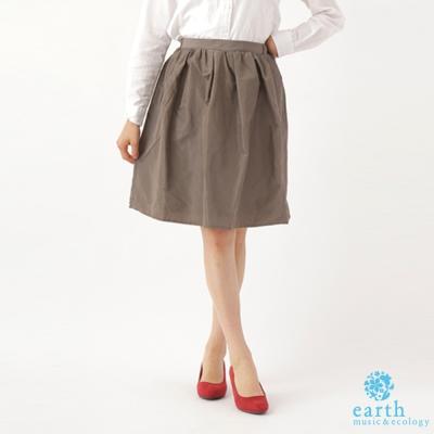 earth music 高腰甜美及膝圓裙