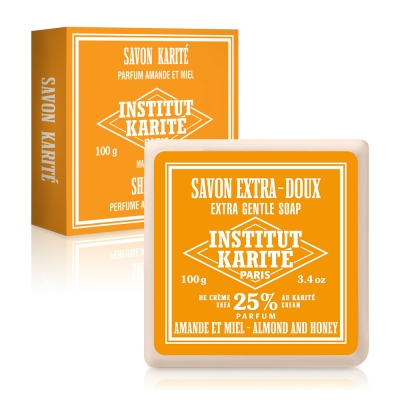 Institut Karite Paris巴黎乳油木杏仁蜂蜜皂 100g