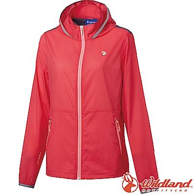 Wildland 荒野 0A61981-15珊瑚紅 女彈性可溶紗17D外套