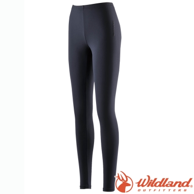 Wildland 荒野 W1698-54黑色 中性 彈性Tactel內搭褲