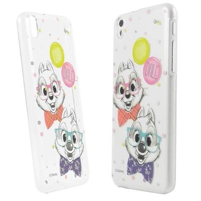 Disney HTC Desire 816  彩繪手繪風透明保護殼-奇奇蒂蒂
