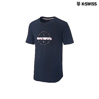 K-Swiss Short Sleeve T-Shirts印花短袖T恤-女-黑