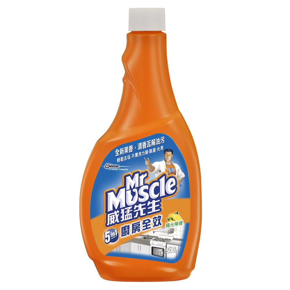 威猛先生 廚房全效清潔劑500g補充瓶-陽光檸檬