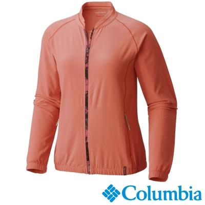 【Columbia哥倫比亞】女-防曬40快排瑜珈短外套-橘 UAK19440AH