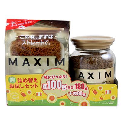 AGF MAXIM箴言金咖啡組(100g+80g)