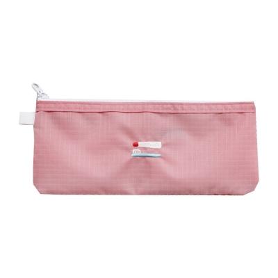2NUL 刺繡尼龍網格盥洗袋-印度粉紅
