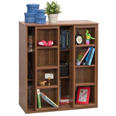 【尼普頓】雙排活動書櫃-矮櫃(原木色)