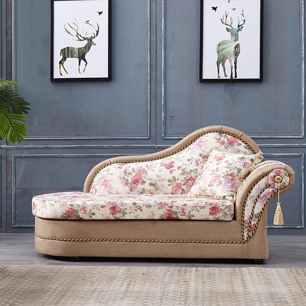 COUCH-歐亞玫瑰貴妃坐躺椅(左右型可選)