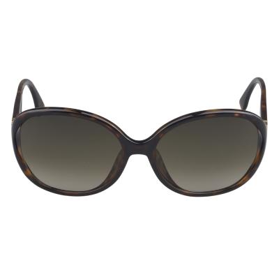 FENDI 鏡框透明雙色太陽眼鏡(藍邊/橘紅)