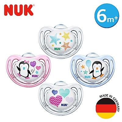 NUK舒適型矽膠安撫奶嘴-一般型6m+1入(顏色隨機出貨)