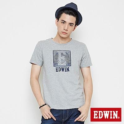 EDWIN 裸視3D-E字短袖T恤-男-灰色
