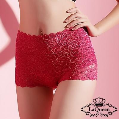 塑褲  蕾絲中高腰蠶絲膠原蛋白塑褲-紅 La Queen