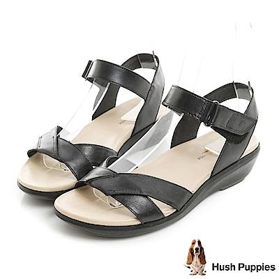 Hush Puppies LYRICALE 機能健走涼鞋-黑色