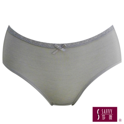 莎薇 竹炭機能型褲包M-LL中低腰三角款兩件組(竹炭灰)
