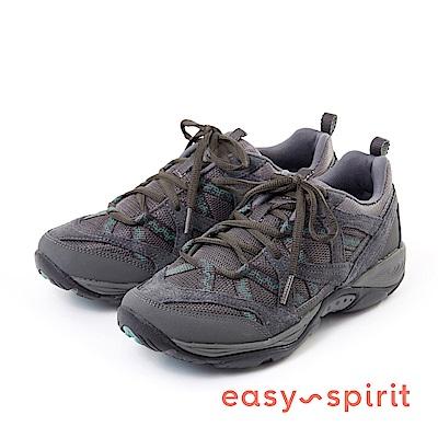 Easy Spirit--輕量休閒綁帶走路鞋款-深藍灰