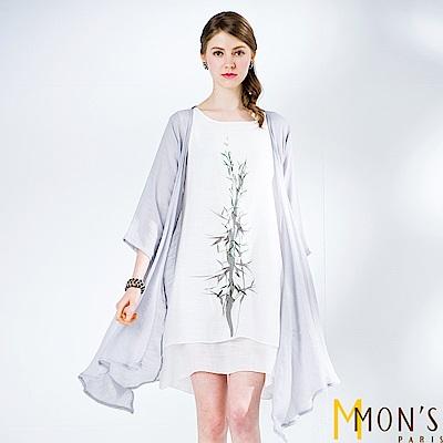 MONS 二件式青竹飄逸罩衫洋裝