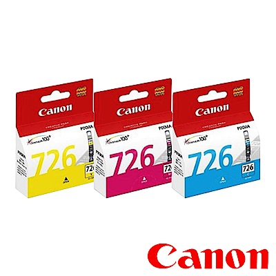 Canon CLI-726C/M/Y 原廠彩色墨水匣組合(3顆入)