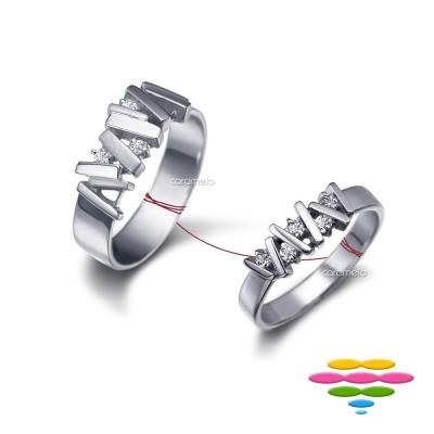 彩糖鑽工坊 鑽石對戒 堆積愛情系列