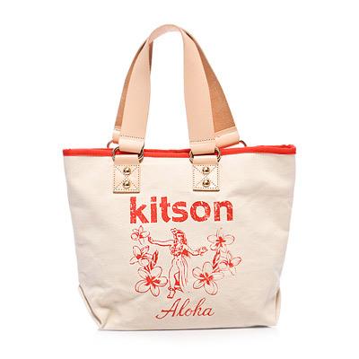 kitson  夏威夷風真皮背帶托特包(M) RED