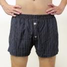 BVD 針織平口四角褲(雅痞黑藍直條紋)