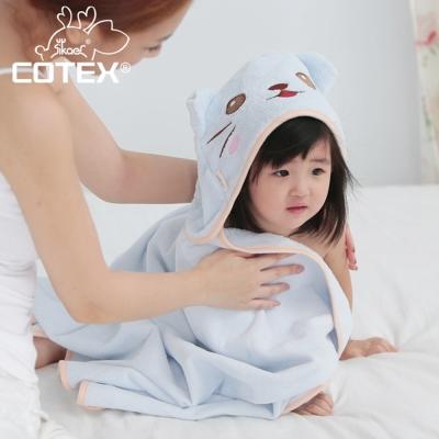 COTEX可透舒  可愛造型浴巾 凱特貓 粉藍色