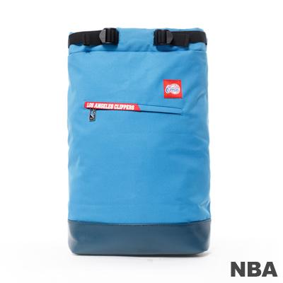 NBA-洛杉磯快艇隊時尚筒型後背包-藍色