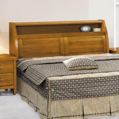 床頭箱 森杰6尺雙人加大 柚木色 愛比家具
