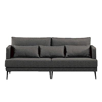 品家居 里奇棉麻布實木沙發三人座-197x82.5x68.5cm-免組