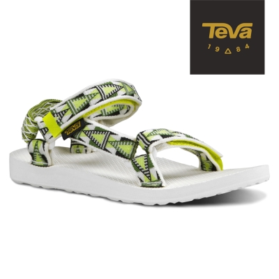 TEVA 美國-女 Original Universal 緹花織帶涼鞋 (格菱黃)