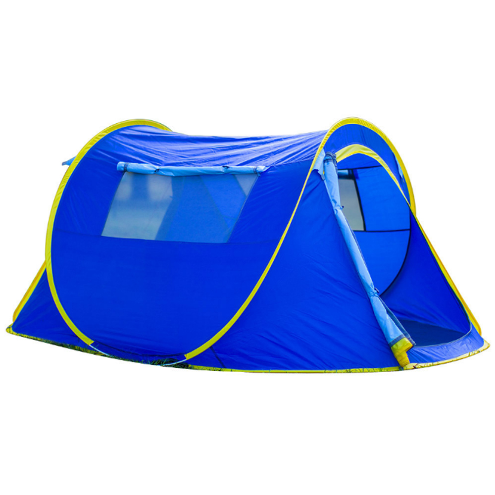 PUSH!戶外休閒登山用品加大速開拋帳露營帳篷2~3人自動帳篷四季帳篷P111