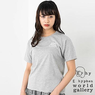 E hyphen 基本款標語打印落肩T恤