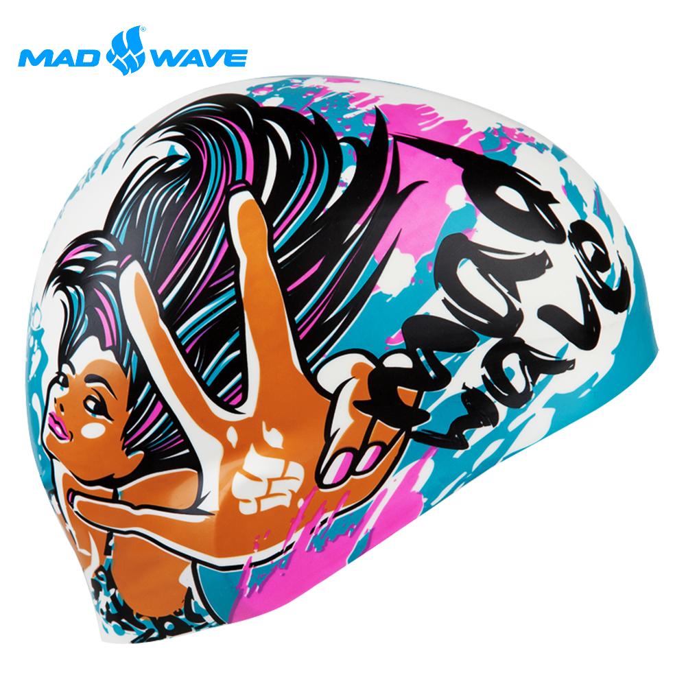 俄羅斯 邁俄威 兒童矽膠泳帽 MADWAVE MAD GIRL