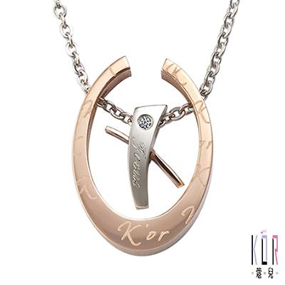 K'or蔻兒 愛的聚焦 0.01克拉鑽石 白鋼女項鍊-金