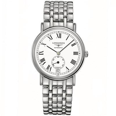 LONGINES 浪琴時尚系列經典小秒針腕錶-銀色/38.5mm