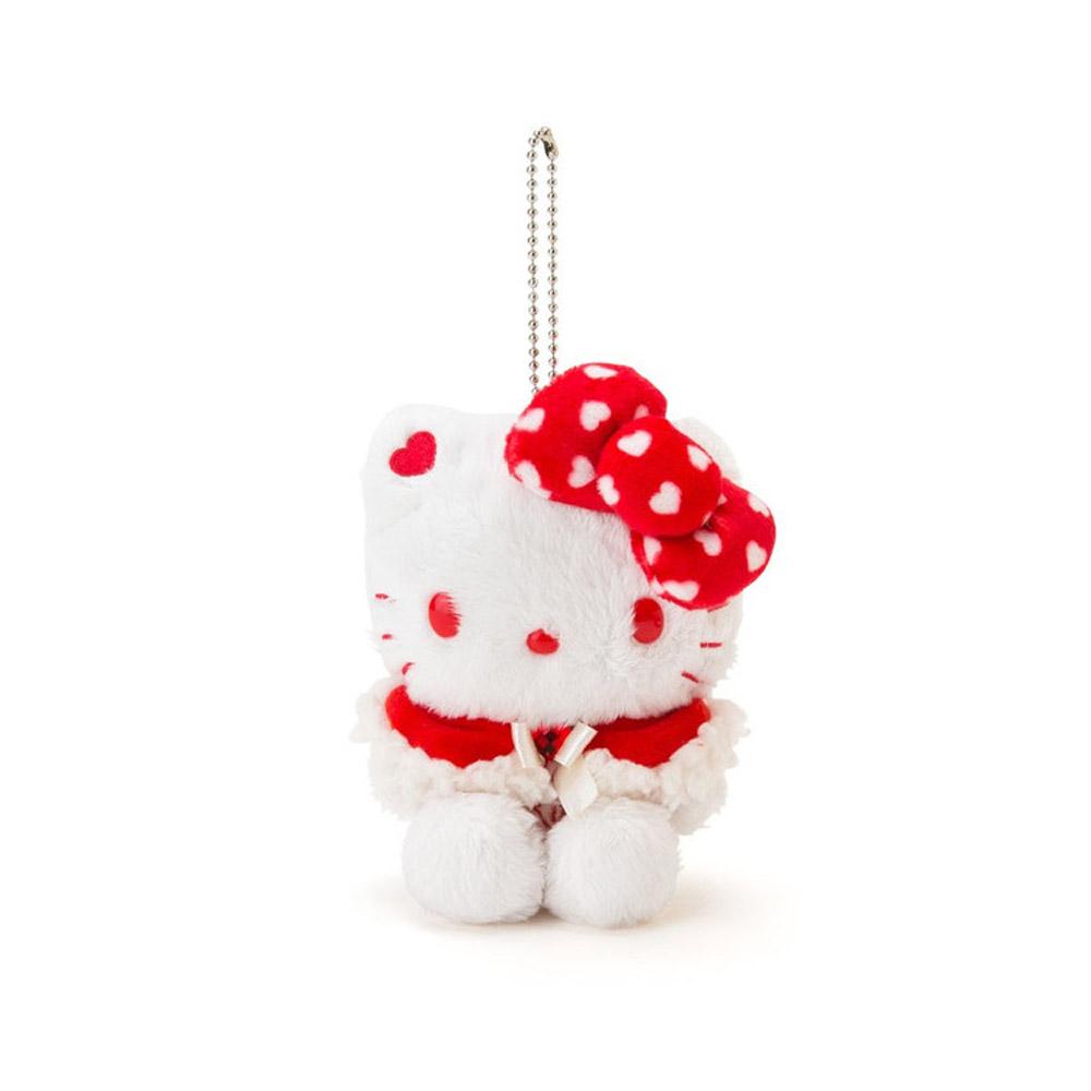 Sanrio SANRIO明星白色聖誕系列玩偶吊鍊KITTY