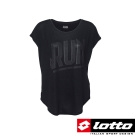 LOTTO 義大利-女 慢跑圓領T-SHIRT (黑)