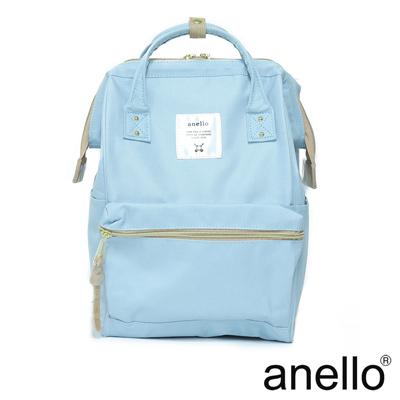 anello 經典口金後背包 粉藍色 M尺寸