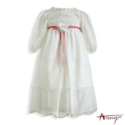 可愛BABY蕾絲花朵洋裝* 4267 白