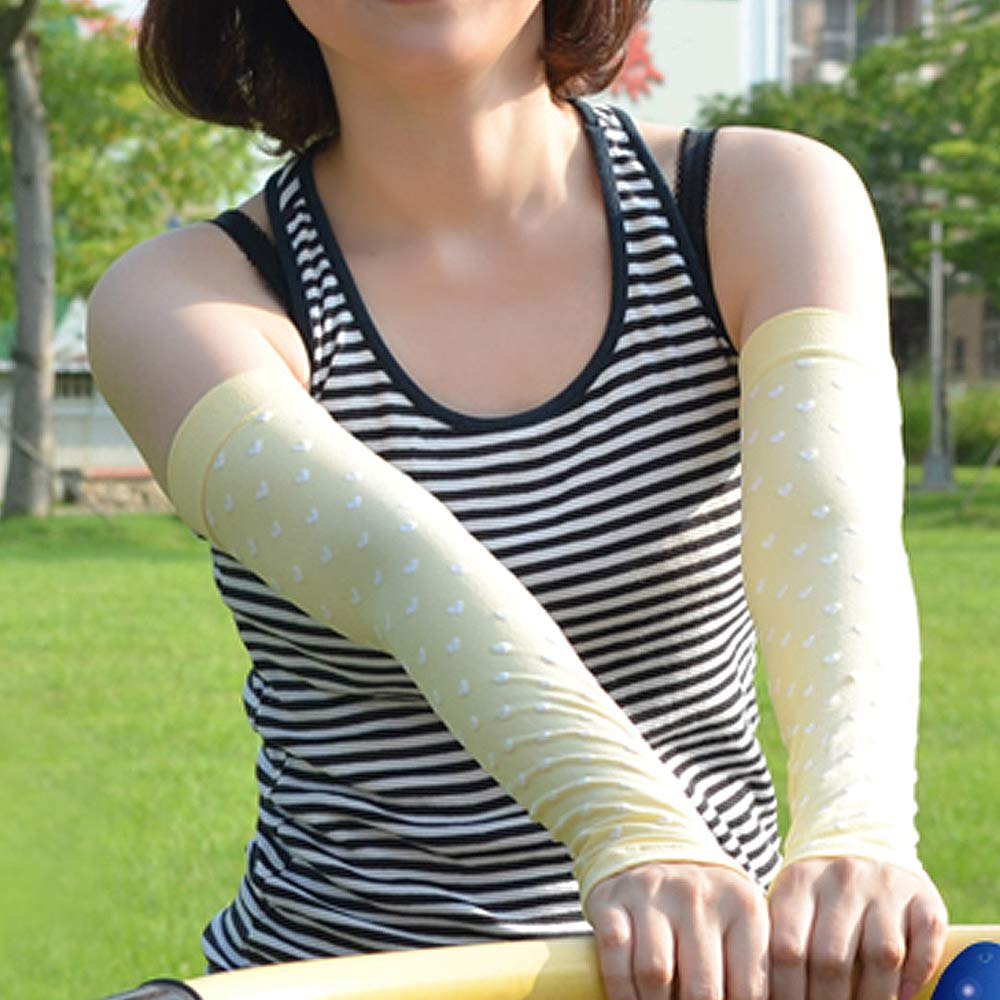 貝柔 涼感抗UV防蚊馬卡龍甜美愛心袖套(共4色)